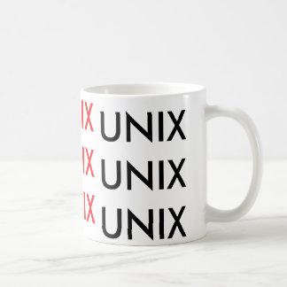 unix unix unix taza clásica