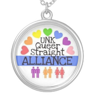 UNK Queer Straight Alliance Necklace