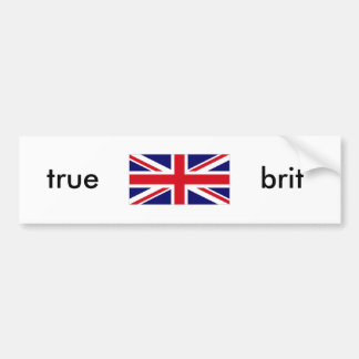 UNKG0001, verdad, británico Etiqueta De Parachoque