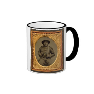 Unknown Armed Confederate Soldier Ringer Mug