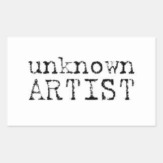 unknown artist rectangular sticker