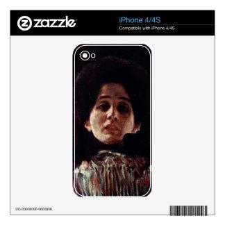 Unknown by Gustav Klimt iPhone 4S Decal