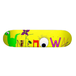 unknown crazy letters skateboard
