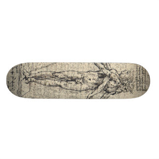 Unknown drawing of androgyn corpus with two heads skate decks