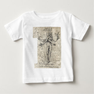 Unknown drawing of androgyn corpus with two heads tee shirts