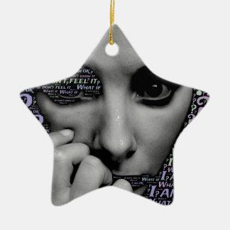 unknown face ceramic ornament