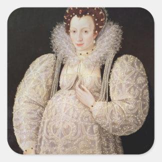 Unknown Lady, c.1595-1600 Square Sticker