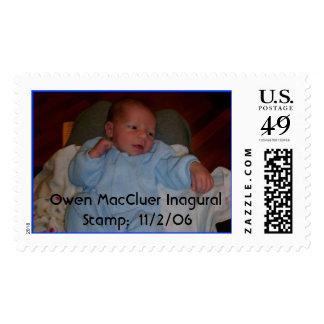 unknown, Owen MacCluer Inagural Stamp:  11/2/06 Postage