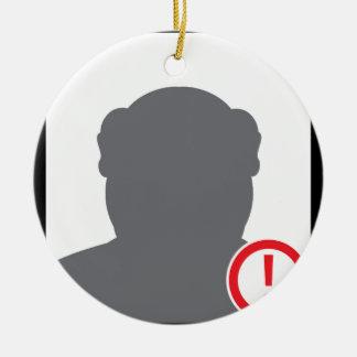 Unknown person Criminal Ceramic Ornament