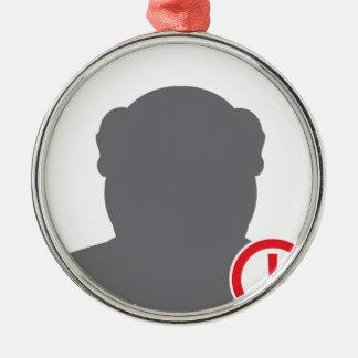 Unknown person Criminal Metal Ornament