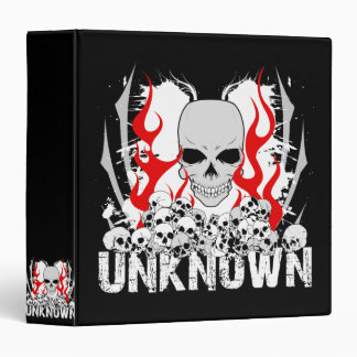 Unknown Stack of Skulls With Red Flames Binder