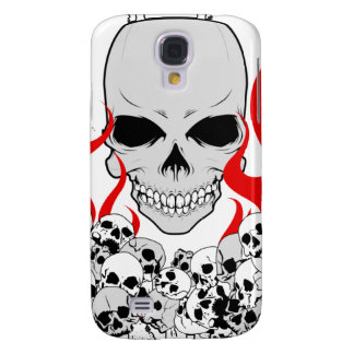 Unknown Stack of Skulls With Red Flames Galaxy S4 Case