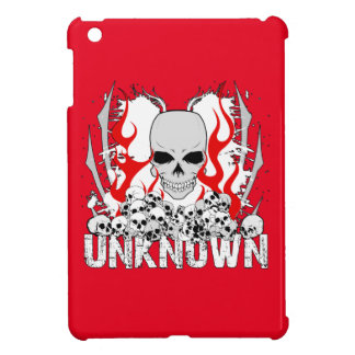 Unknown Stack of Skulls With Red Flames Case For The iPad Mini