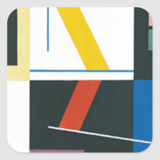 unknown title by Sophie Taeuber-Arp Square Sticker
