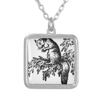 Unknown title by Theodor Severin Kittelsen Square Pendant Necklace