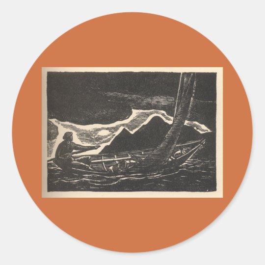 Unknown Waters Classic Round Sticker