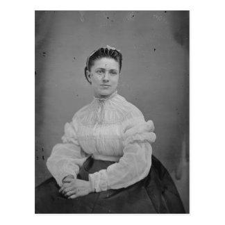 Unknown Woman Civil War Era Portrait Postcard