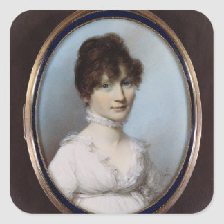 Unknown woman square sticker