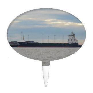 Unladen Container Ship Cake Topper