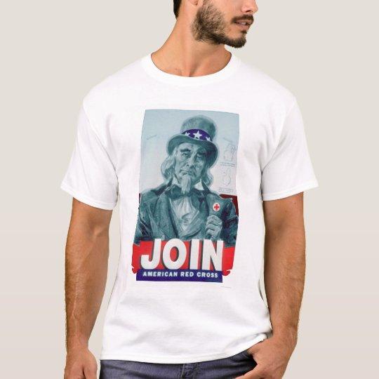 Unlce Sam Wears a Red Cross Button (US00291) T-Shirt