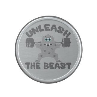 Unleash The Beast Gym Motivation Bluetooth Speaker