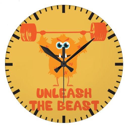 gym wall clocks physical culturist