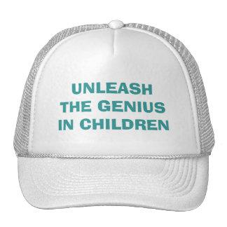 UNLEASH THE GENIUS IN CHILDREN TRUCKER HAT
