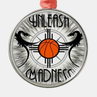 Unleash The Madness Dragons Light Metal Ornament