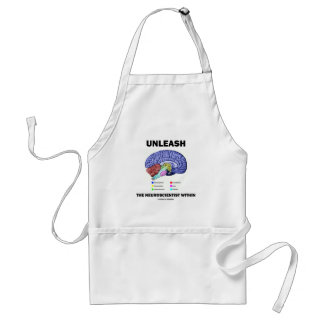 Unleash The Neuroscientist Within (Brain Anatomy) Adult Apron