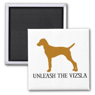 UNLEASH THE VIZSLA 2 INCH SQUARE MAGNET