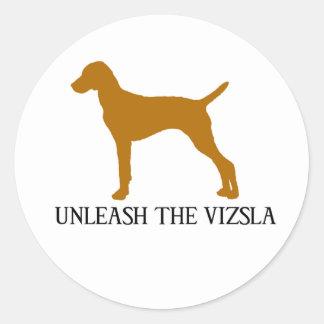 UNLEASH THE VIZSLA CLASSIC ROUND STICKER