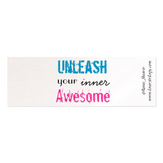 """""""Unleash Your Inner Awesome"""" Mini Bookmarks Mini Business Card"""
