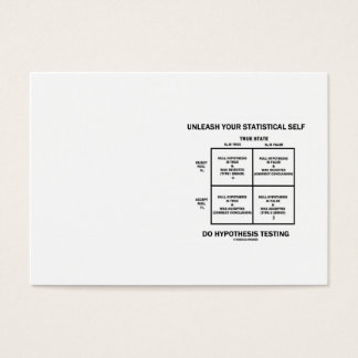 Unleash Your Statistical Self (Bell Curve Humor) Business Card