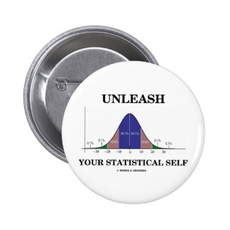 Unleash Your Statistical Self (Bell Curve Humor) Pin