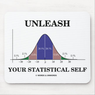 Unleash Your Statistical Self (Bell Curve Humor) Mouse Pad