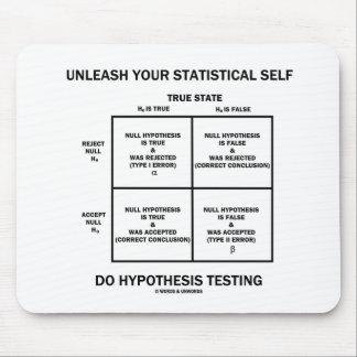 Unleash Your Statistical Self Hypothesis Testing Mouse Pad
