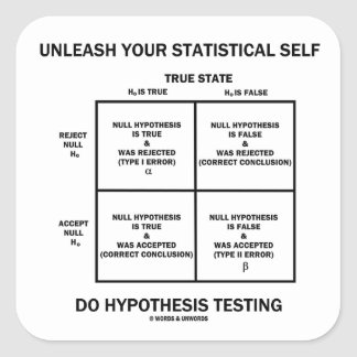 Unleash Your Statistical Self Hypothesis Testing Square Sticker