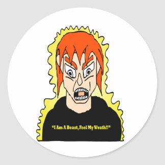 Unleashing The Beast Classic Round Sticker