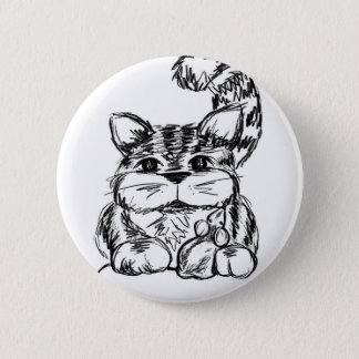 Unlikely Friends Cat and Mouse Pinback Button