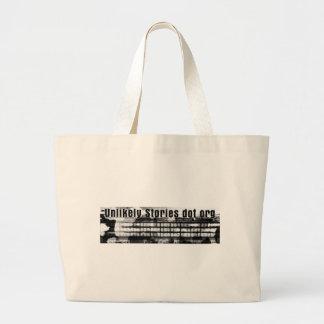 Unlikely Stories Mark V logo Large Tote Bag