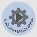 Unlimited Media Works Classic Round Sticker