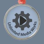 Unlimited Media Works Metal Ornament