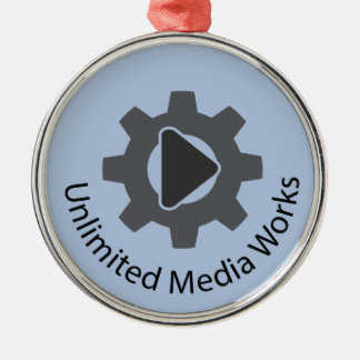 Unlimited Media Works Round Metal Christmas Ornament