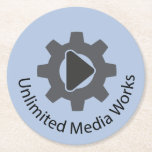 Unlimited Media Works Round Paper Coaster