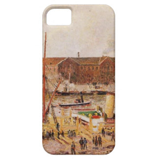 Unloading Wood at Rouen by Camille Pissarro iPhone SE/5/5s Case