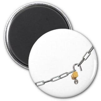 Unlock chain refrigerator magnets