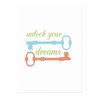 Unlock Dreams Post Card