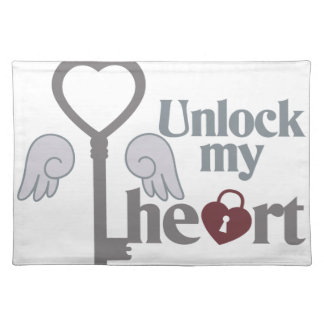 Unlock Heart Cloth Placemat