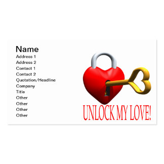 Unlock My Love Double-Sided Standard Business Cards (Pack Of 100)