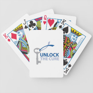 Unlock the Cure Bicycle Playing Cards